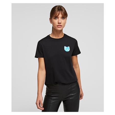 Tričko Karl Lagerfeld Mini Ikonik Choupette T-Shirt - Černá