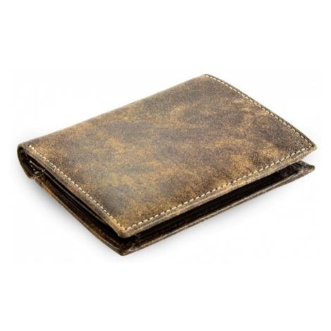 Hnědá pánská kožená peněženka Flerel Arwel