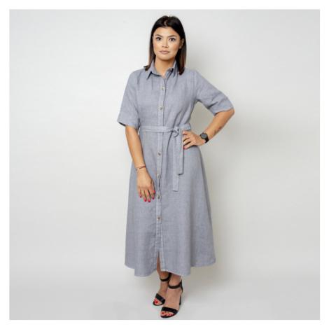 Dlouhé šaty šedé barvy 10789 Willsoor