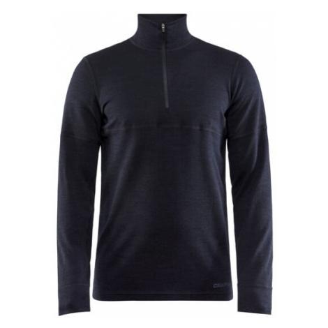 Pánské tričko CRAFT Merino 240 Zip LS černá