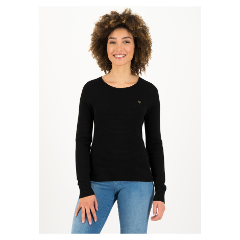 Podzimní černý svetr z organické bavlny Blutsgeschwister