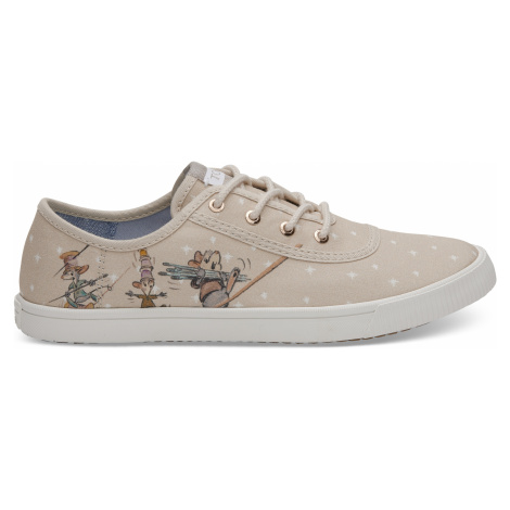 Taupe Gus & Jaq Printed Canvas Toms