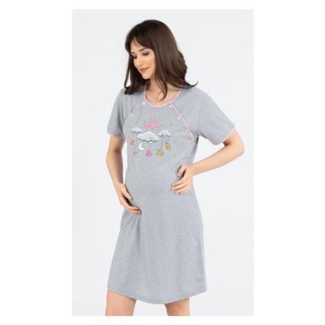 Dámská noční košile mateřská Dream, XL, světle růžová Vienetta Secret