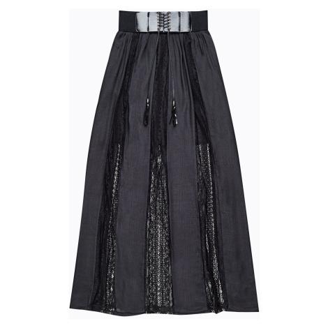 GATE Dlouhá sukně s ozdobným páskem