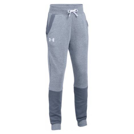 Under Armour Threadborne Ridge Jogger Dívčí tepláky 1298900-962 APOLLO GRAY / APOLLO GRAY / WHIT