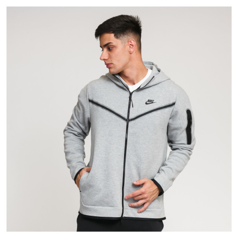Nike M NSW Tech Fleece Hoodie FZ WR melange šedá
