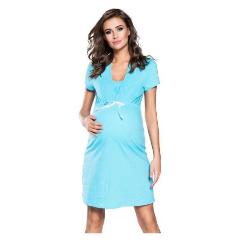 Těhotenská a kojicí noční košile Alena modrá Italian Fashion