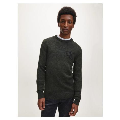 Calvin Klein pánský zelený svetr