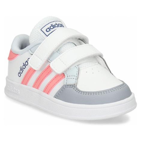Bílé dívčí tenisky na suchý zip Adidas