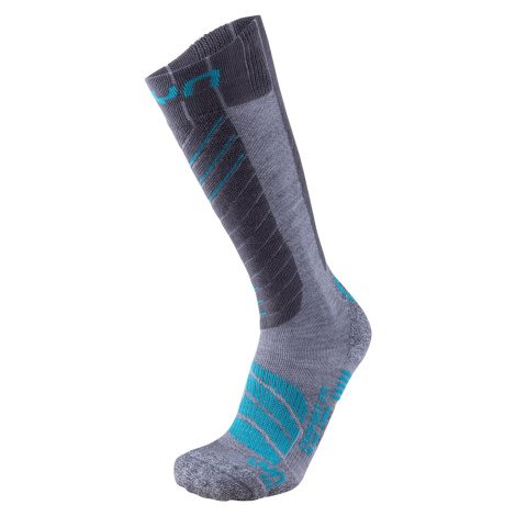 Ponožky Uyn Ski Comfort Fit W - šedá/modrá /42