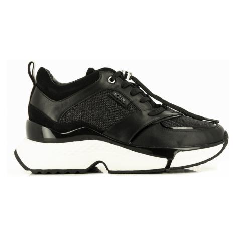 Tenisky Karl Lagerfeld Aventur Lux Mix Lace Shoe - Černá
