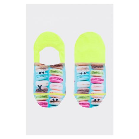 XPOOOS nízké ponožky dámské makronky - modrá, zelená