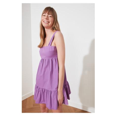 Trendyol Purple Flywheel Back Detailed Dress