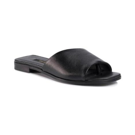Pantofle Gino Rossi KARO-01 Přírodní kůže (useň) - Lícová