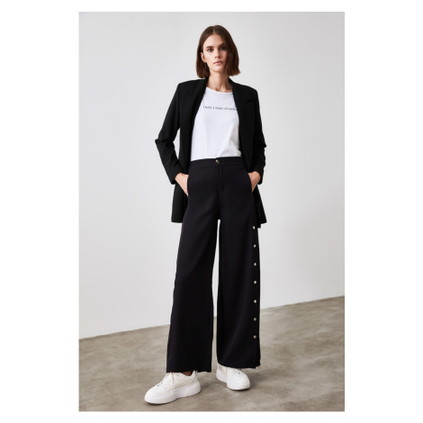 Trendyol Black Button Detailed Trousers