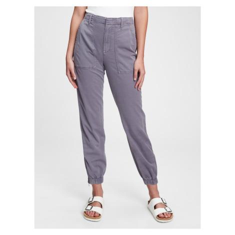 GAP fialové kalhoty girlfriend utility joggers