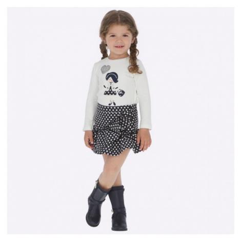 Dívčí komplet Mayoral - triko a sukně 4949 | bílá