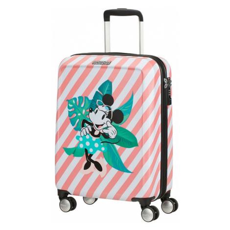 American Tourister Kabinový cestovní kufr Funlight Disney Spinner 36 l - Minnie Miami Holiday