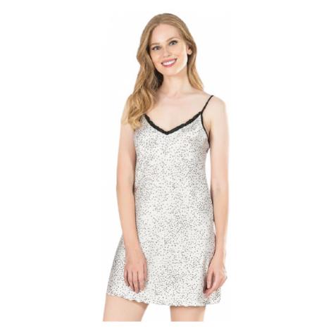 Dámská noční košile na ramínka Vienetta Secret Barbora   bílá