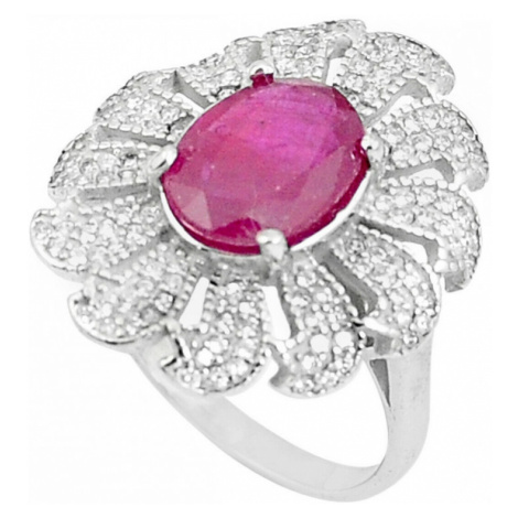 AutorskeSperky.com - Stříbrný prsten s rubínem - S3881