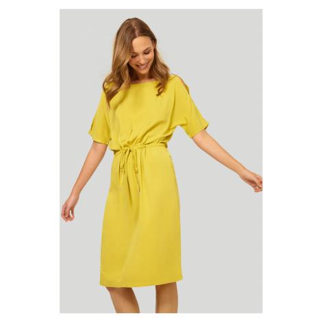 Limetkové midi šaty 555 Greenpoint