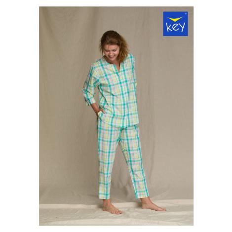 Dámské pyžamo LNS 453 2 A21 okrová-mátová Key