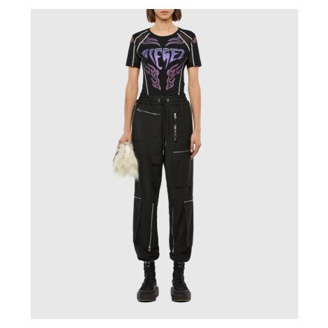 Kalhoty Diesel P-Lex-A Trousers - Černá