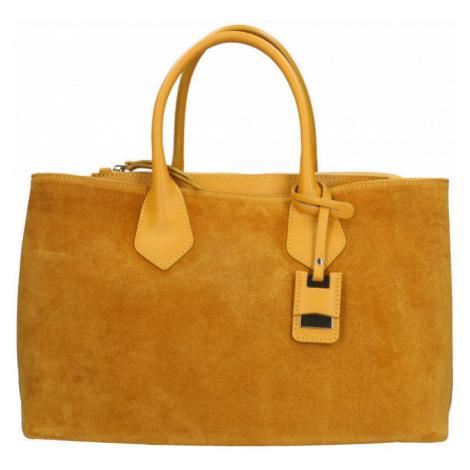 Velká kožená kabelka do ruky i přes rameno Beatrice Exclusive
