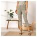 Blancheporte 3/4 úzké kalhoty se zipy khaki