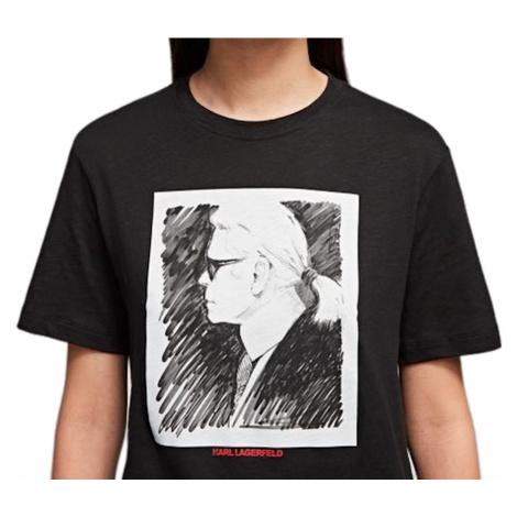 Černé tričko - KARL LAGERFRELD | legend Karl Lagerfeld