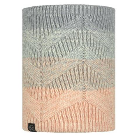 Nákrčník Buff Knitted Polar Fleece Masha Air - šedá/růžová