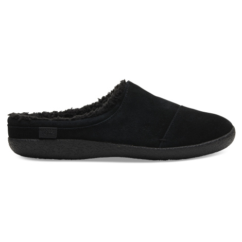 Black Suede Men Berkeley Slipper Toms
