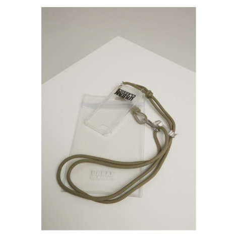Urban Classics Phone Necklace with Additionals I Phone 8 transparent/olive