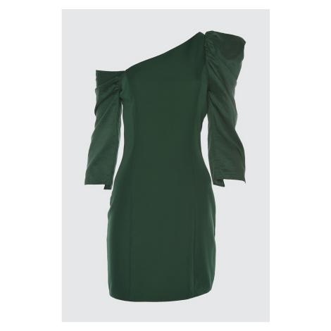 Trendyol Green Collar Detailed Dress