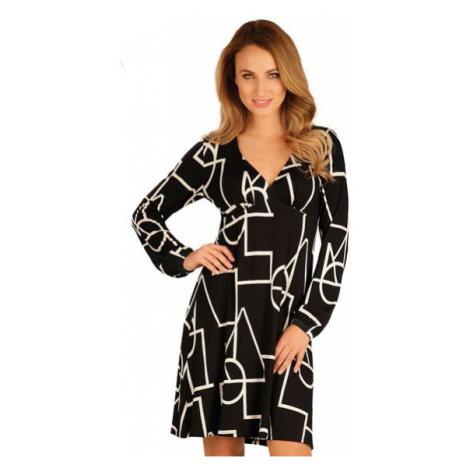 Dámské šaty s dlouhým rukávem Litex 60051 | tisk