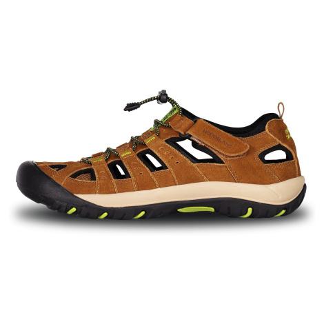 Nordblanc Orbit pánské kožené sandály béžové