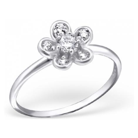 OLIVIE Stříbrný prsten FLOWER 1197