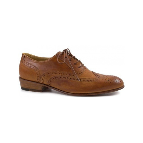 Leonardo Shoes PINA 037 CUOIO Hnědá