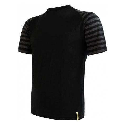 Pánské tričko SENSOR Merino Active černá/šedá