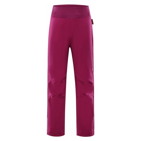 ALPINE PRO OCIO INS. Dětské softshellové kalhoty KPAP072450 virtual pink