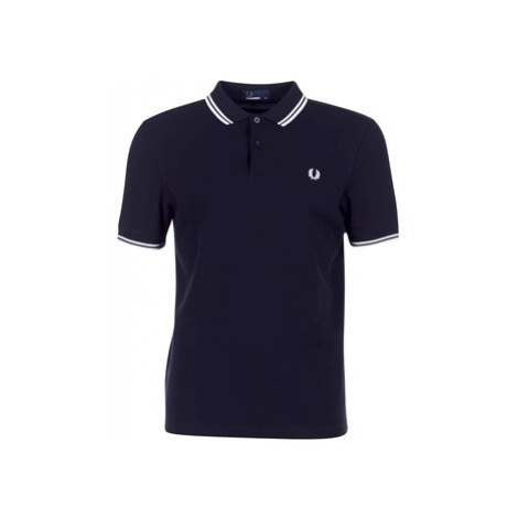 Fred Perry SLIM FIT TWIN TIPPED Modrá