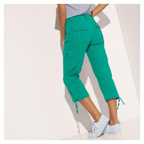 Blancheporte 3/4 kalhoty s úpletovým pásem mátová