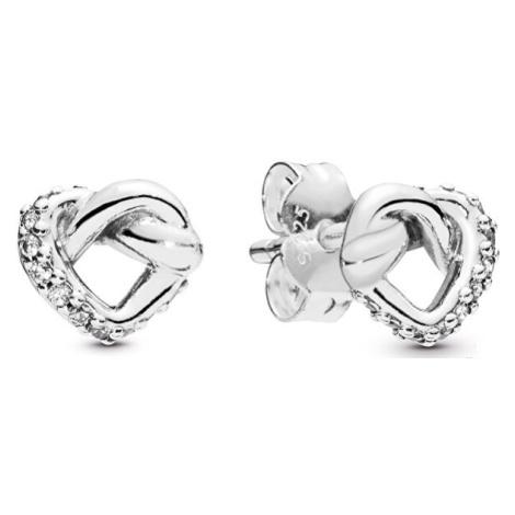 Pandora Stříbrné srdíčkové náušnice 298019CZ