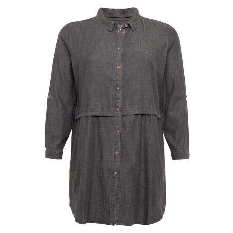 ONLY Carmakoma Košilové šaty 'Claire' šedá džínová