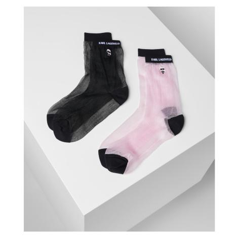 Ponožky Karl Lagerfeld K/Ikonik Transparent Socks 2Pk - Různobarevná