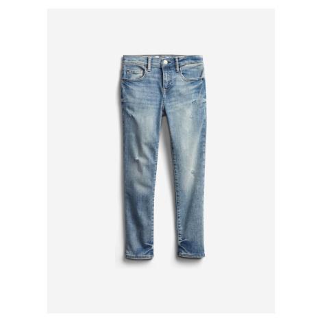 Distressed Jeans dětské GAP Modrá
