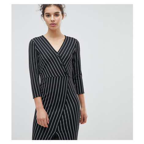 Miss Selfridge Wrap Front Asymmetric Hem Bodycon Dress