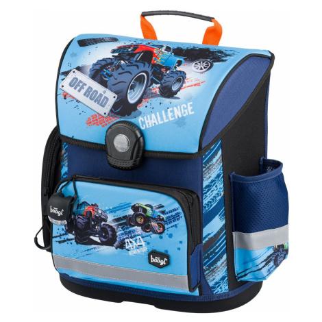 Klopnová voděodolná školní aktovka pro kluky s motivem auta Dante Baagl