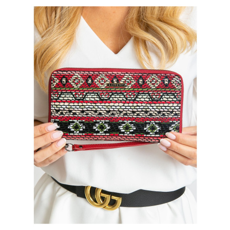 Leather wallet with geometric patterns Fashionhunters