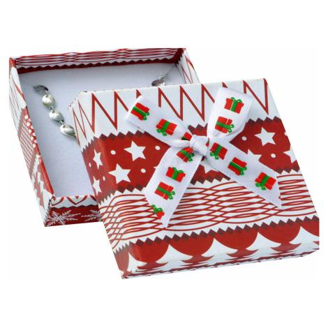 JKBOX Vánoční krabička s mašlí na střední sadu šperků | IK022